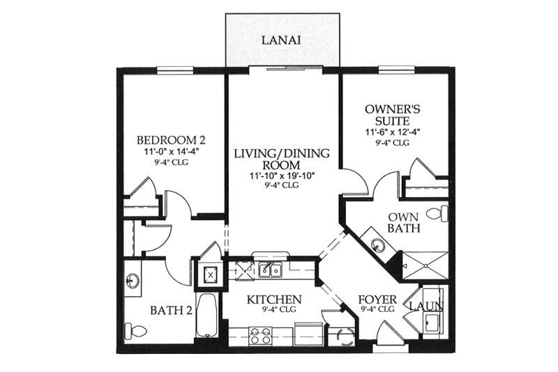 Floor Plan for Gentle Breeze