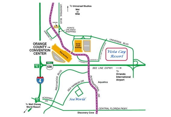 map of vista cay resorts orange conty convention center